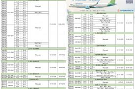 BAMBOO AIRWAYS - LỊCH BAY THƯƠNG MẠI ÁP DỤNG TỪ 17/03/2020 - 13/04/2020