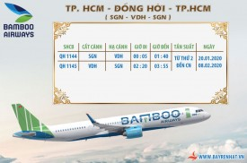 Bamboo Airway Tăng tuyến SGN - VDH - SGN từ 20/01/2020 - 08/02/2020