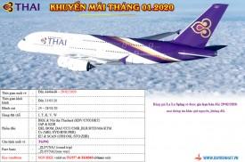 Thai Airways Triển khai khuyến mãi tháng 01.2020
