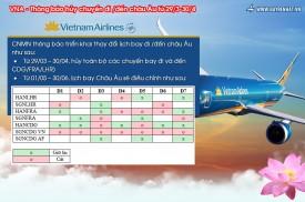 Vietnam Airlines: Thông báo hủy chuyến đi/đến châu Âu từ 29/3-30/4
