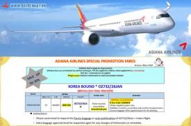 Asian Airlines khuyến mãi Giảm đến 30% cho chặng bay SGN - ICN - SGN