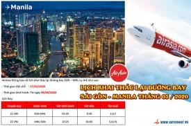Air Asia khai thác lại chặng SGN - MNL, xuất vé từ 17/01/2020