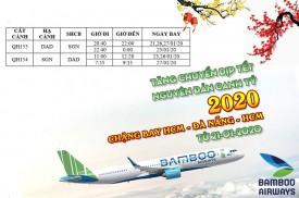 Bamboo Airways tăng chuyến dịp tết nguyên đán Canh Tý 2020 chặng bay ĐÀ NẴNG – HỒ CHÍ MINH – ĐÀ NẴNG