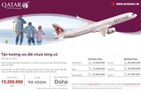 Qatar Airways Triển khai chương trình ưu đãi xuân 2020. Hiệu lực đến 14/01/2020