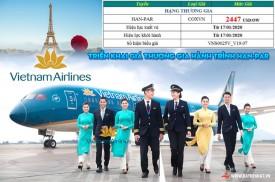 Vietnam Airlines triển khai bổ sung giá thương gia hành trình từ HÀ NỘI đến PARIS
