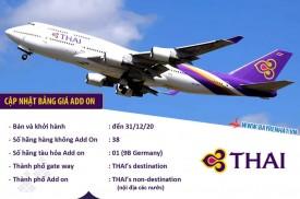 Thái Airway thông báo bảng giá add on - xuất vé đến 31-12-2020