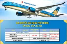 Giá vé Vietnam Airline khuyến mãi hạng phổ thông