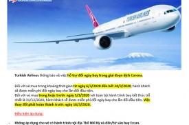 Turkish Airlines - THÔNG BÁO CHÍNH SÁCH HỖ TRỢ ĐỔI NGÀY BAY
