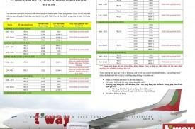 TWAY AIR - Cập nhật giai đoạn tạm dừng khai thác mùa hè 2020 giữa VNM và KOR (12MAR20)