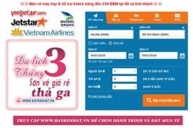 Vé máy bay giá rẻ tháng 3 siêu giảm chỉ từ 90.000 đồng