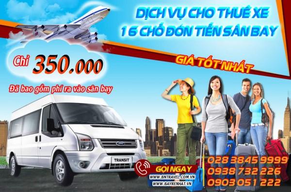 Dịch vụ Thuê xe 16 chỗ đón tiễn đi sân bay tại Tp Hồ Chí Minh