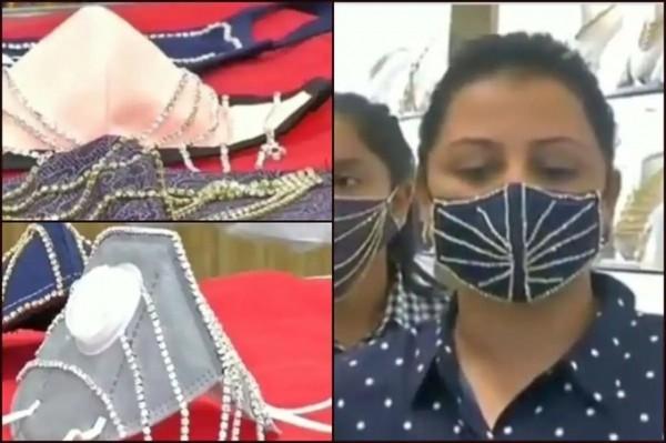 Khẩu trang đính kim cương, vàng 'nở rộ' ở Ấn Độ