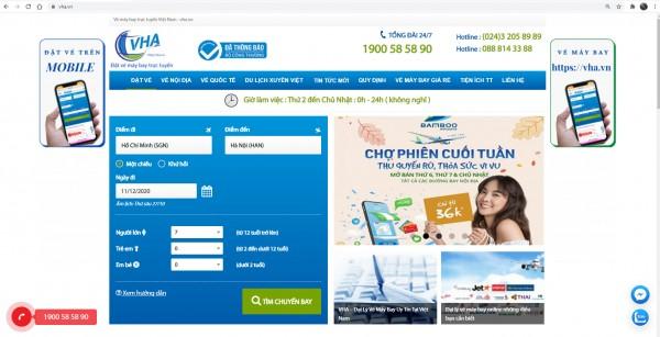 Trang web hiển thị giá vé máy bay rẻ nhất? VHA.VN ?