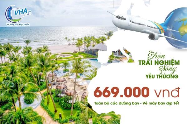 Bay siêu rẻ chỉ 669K toàn bộ các đường bay vé Tết 2021 phòng vé VHA