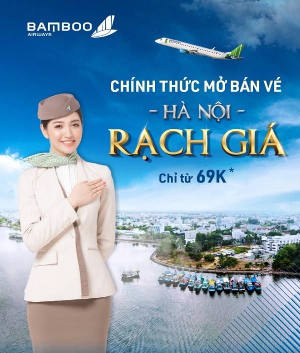 Săn vé máy bay giá rẻ, cùng Bamoo airways bay đến Rạch Giá