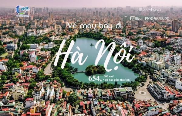 Vé máy bay đi Hà Nội Vietjet Air, Vietnam Airlines và Bamboo Airways