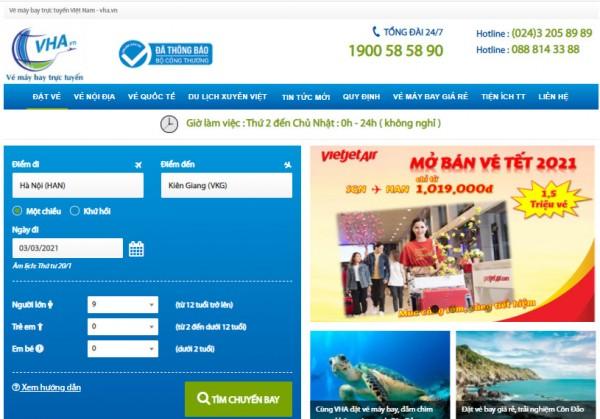 Đặt vé máy bay onlines giá rẻ nhất tại VHA.VN