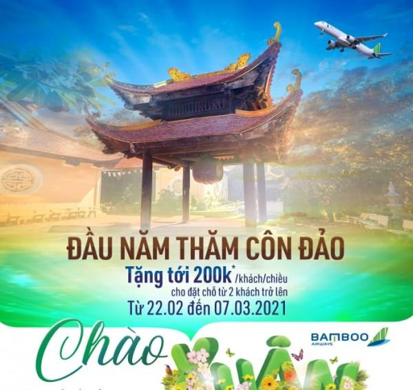 Giá vé bay Côn Đảo siêu ưu đãi từ Bamboo airways dịp đầu năm