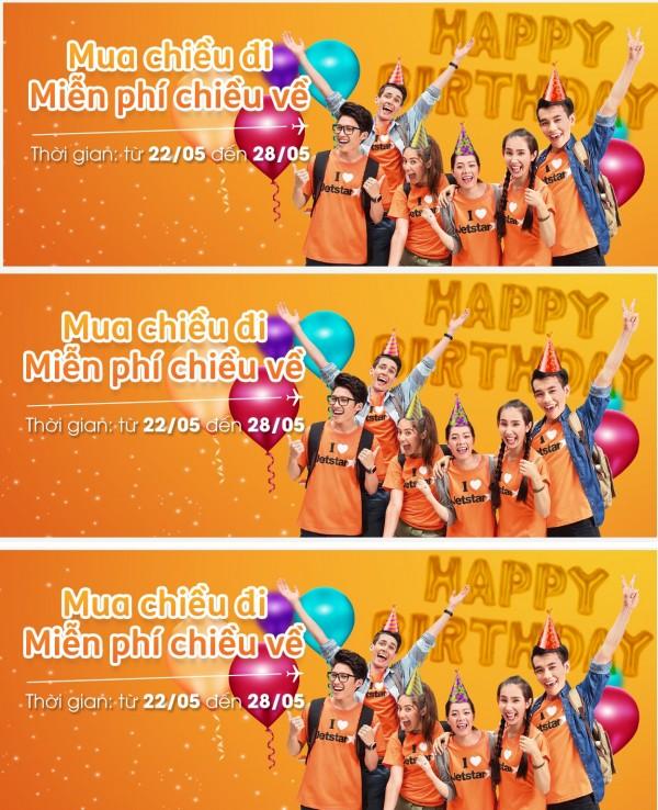 Khuyến Mãi Mừng Sinh nhật Jetstar Pacific Mua chiều đi Miễn phí Chiều về