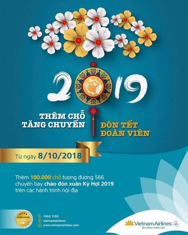 Vietnam Airlines mở bán vé máy bay dịp Tết Nguyên Đán Kỷ Hợi 2019