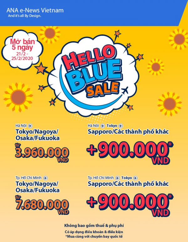 ALL NIPPON AIRWAYS - HELLO BLUE SALE