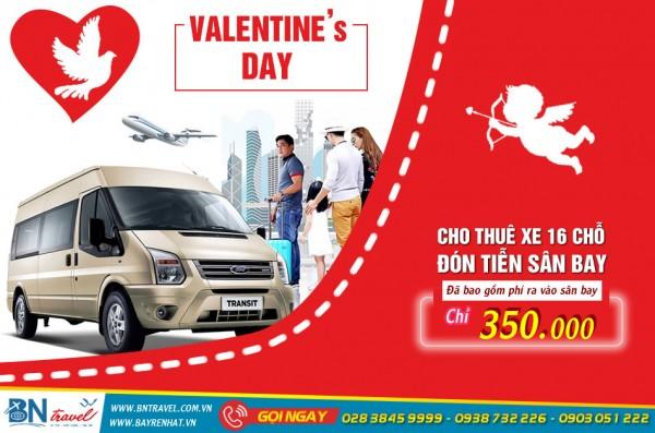 Dịch vụ thuê xe du lịch 16 chỗ dịp lễ Valentine 14/2 giá rẻ TP.HCM